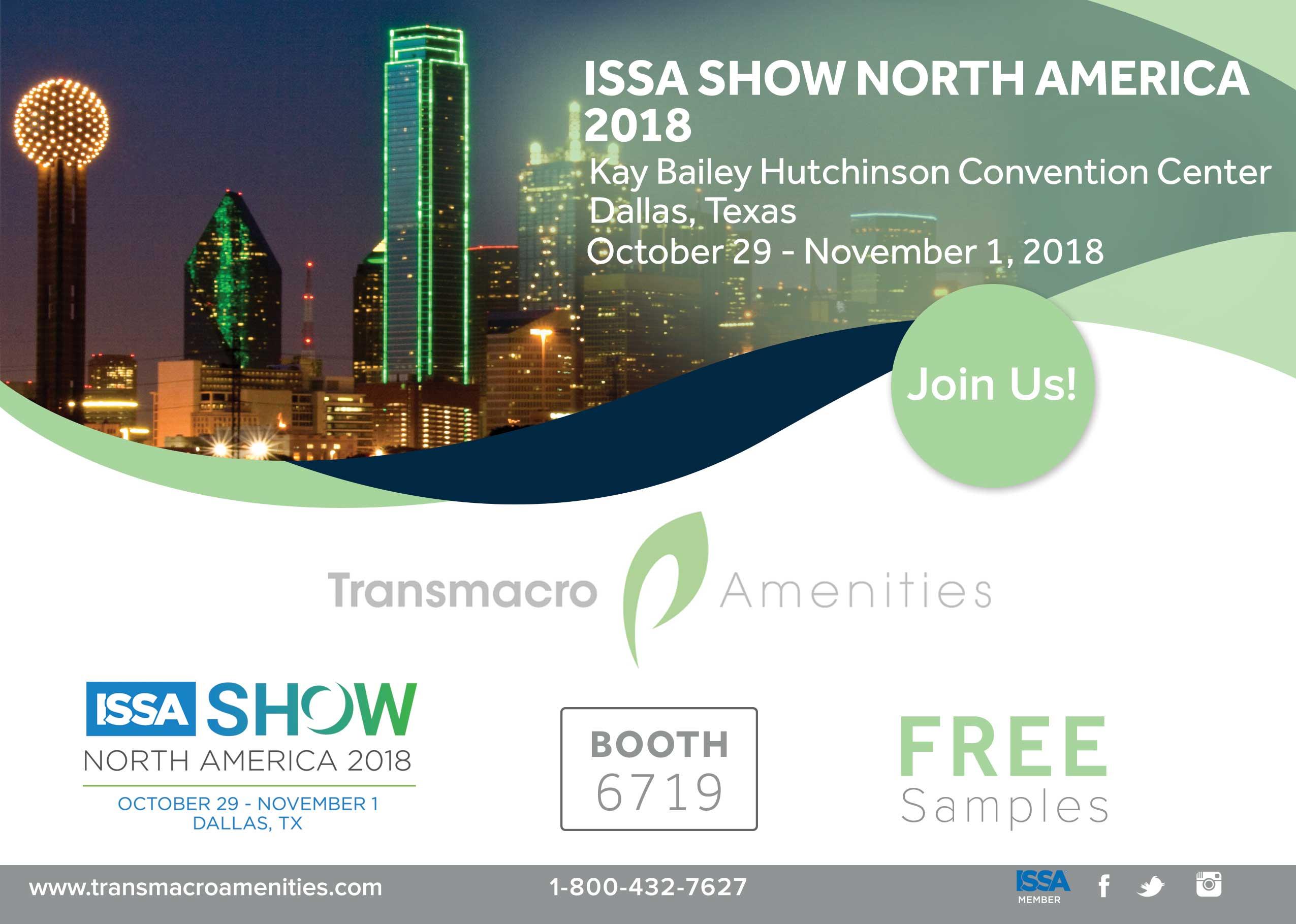 2018 ISSA Interclean Show Transmacro